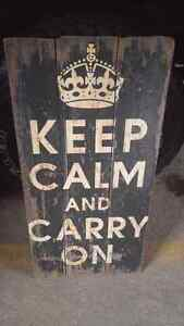 Vintage WW2 style Keep Calm and Carry On sign