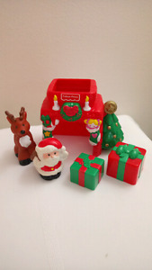 Fisher Price Little People Christmas Santa Set