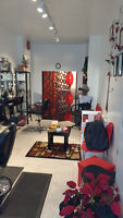 Brand new salon open with chair for rent