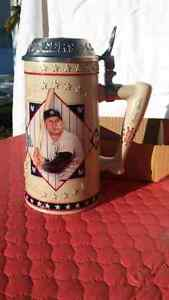Mickey Mantle collectable beer stein