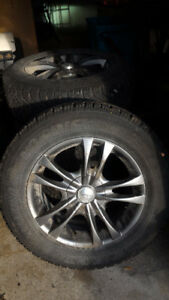 Good Year Nordic Winter Tires on Alloy Rims (16inch rims)