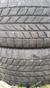 PAIR OF 215-55 R16 WINTER TIRES