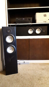 2 MTS Tower Speakers plus FM/AM receiver