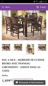 Table Bistro/6 chaises