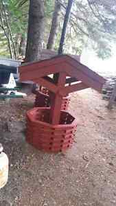To door wishing well and varies other wooden crafts