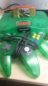 Jungle Green funtastic N64 with Zelda
