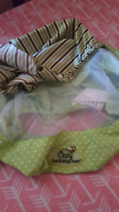 Cozy sun and bug cover for car seat