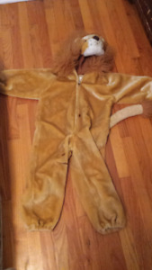 Lion costume size 3t to 5t