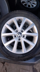 "VW Grey/Silver 16"" Rim Set"
