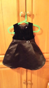 Toddler  black satin & velvet dress size 24M