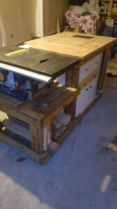 Custom Work Bench, Table Saw, Router