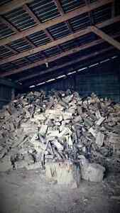 Stored indoors . Seasoned firewood.