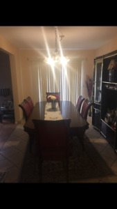 Nice Dining table with free cabinet