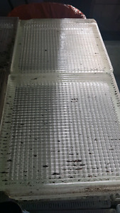 Pallet of over 300 used glass blocks cheap need gone