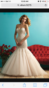 Brand new with tags!! Allure Bridal style 9275 size 14 in ivory
