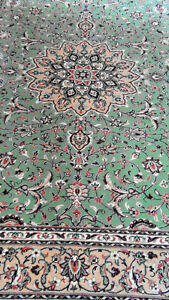 Rug Beautiful Green/Multi Persian Wool Machine Made
