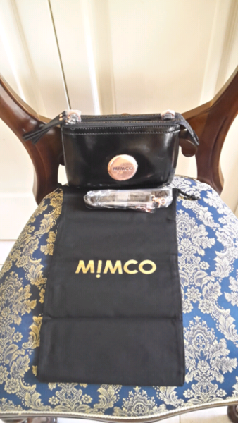 85e656c3b039 MIMCO SECRET COUCH BAG PATENT BLACK WITH ROSE GOLD HARDWARE s