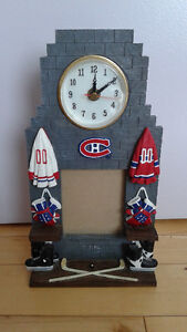 Montreal Canadiens clock/picture frame