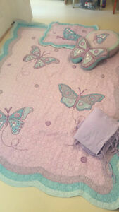 butterfly quilt - single bed, bedroom set