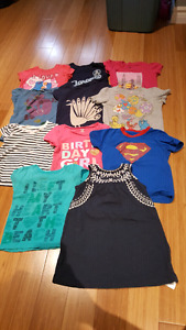 3T lot girls tshirts and dress