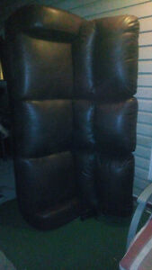 Couch leather recliner