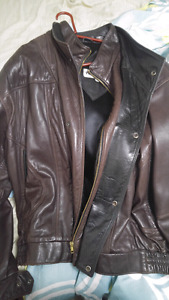 Real leather mens jacket