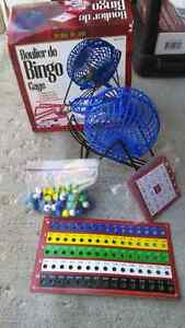Deluxe Wire Cage Bingo Set with Balls and Cards Kitchener / Waterloo Kitchener Area image 1