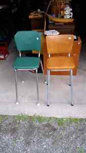 Pair of Chrome Stools for Sale