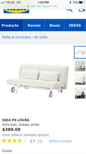 Ikea Light Grey Couch/Bed