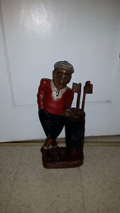 Real handcrafted wood statue