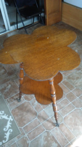 Antique lucky clover leaf table PRICE REDUCED