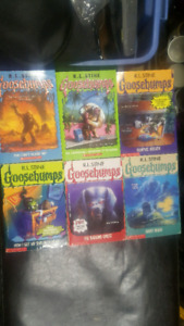 6 Goosebumps Books