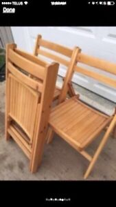 Folding Wooden Chairs Peterborough Peterborough Area image 4