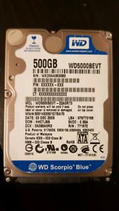 "500GB 2.5"" SATA Hard drive."