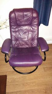 Chaise en cuir inclinable