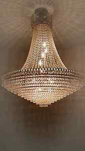 100% Crystal gorgeous chandelier.