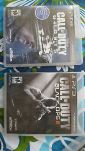 CALL OF DUTY GHOSTS AND BLACK OPS 2 PS3