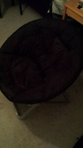 Moving Sale--Faux-Suede Moon Chair