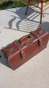 1900's ANTIQUE Real Leather Suitcase