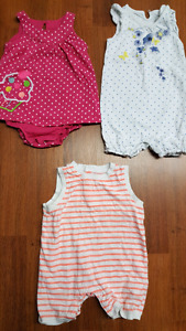 18-24 month baby girl summer rompers pj's t-shirt