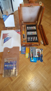 WOODEN ART EASEL collapsible