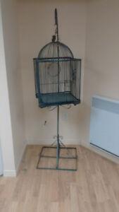 Cage d'oiseaux en métal
