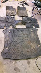 Jeep wrangler rubber floor mats
