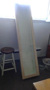 Ikea Bertby Wall display cabinet Birch and White