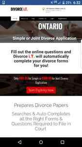 Simple/Joint/Uncontested Divorce Application $99.95 Online Kitchener / Waterloo Kitchener Area image 1