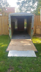 For rent 6x12 enclosed trailor with ramp door