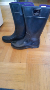 SPERRY TOP-SIDER - Pair of Pelican Black Rubber Boots