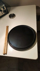 High end double sided drum practice pad, with sticks. Great cond