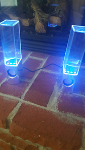 Led color water speakers