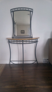 Hall table and antique phone table for sale